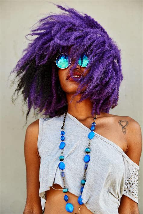 black women with purple colour in their hair o u b p negras de cabelo roxo