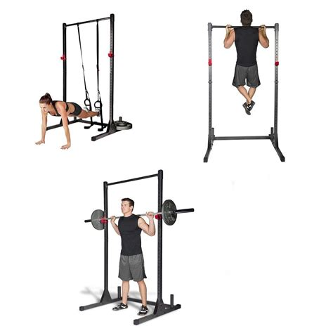 bench and squat workout exercise stand fitness power rack tower lifting barbell free bench squat workout