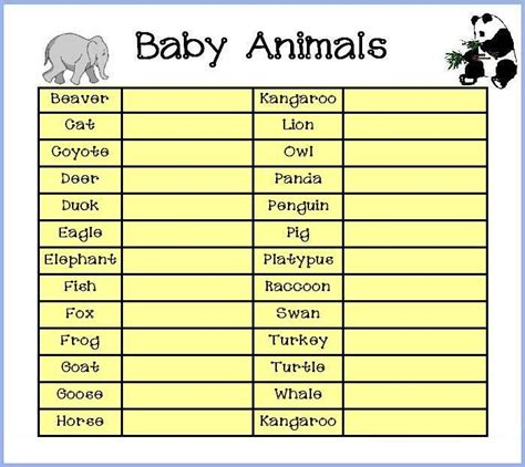 Www Plan The Baby Shower by Baby Animals Http Www Plan The Baby Shower
