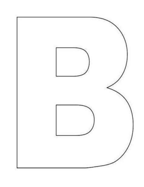 letter b template large alphabet templates preschool items juxtapost