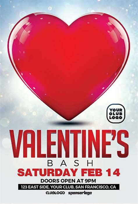 download free valentines day flyer psd templates for