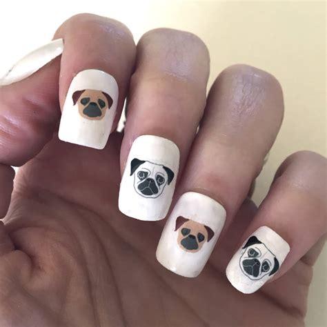 Nail Transfers by Pug Nail Transfers By Hoobynoo Notonthehighstreet
