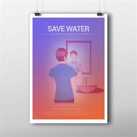 design poster save water ratheesh alingal poster design for save water