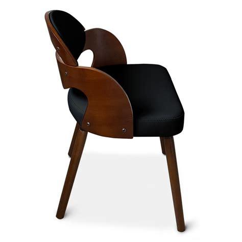 chaise scandinave noir et bois manu lot de 2