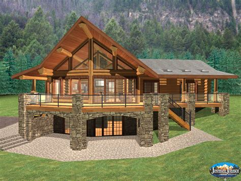 log cabin floor plans with basement log cabin home plans with basement log cabin style house