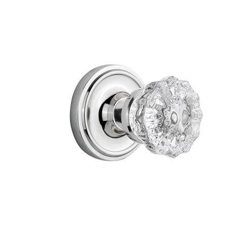 prime line chrome glass door knob with spindle e 2328