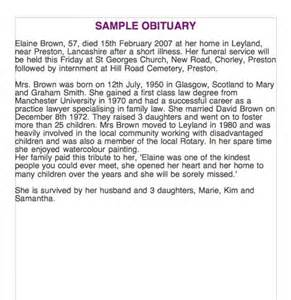 how to write obituary template 25 free obituary templates and sles free template