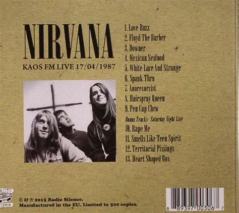 Kaos Distro Nirvana Record Collector nirvana kaos fm live 17 04 1987 vinyl at juno records