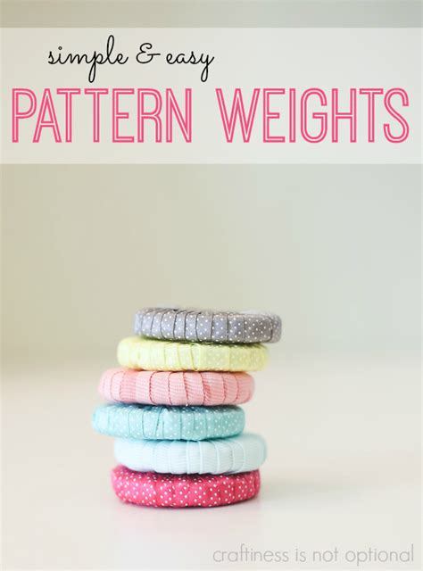 pattern weights how to use simple easy pattern weights craftiness is not optional
