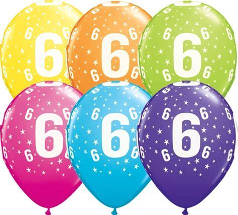 Balon Gas Helium 6 helium luftballon zahl 6 zum 6 geburtstag 28 cm