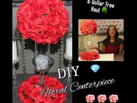 How To Arrange Flowers In A Tall Vase Diy Dollar Tree Red Floral Arrangement Centerpiece