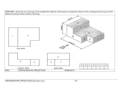 doodle viewer orthographic projection exercises