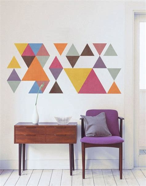 geometric wall decor 24 stylish geometric wall d 233 cor ideas digsdigs