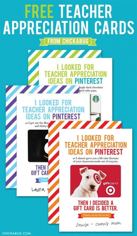 Enjoy These 12 Gift Cards On Us - 12 diy teacher appreciation gift ideas design dazzle