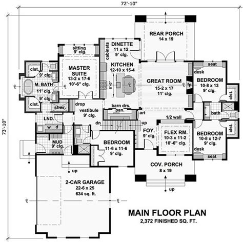 french country tudor house plan 98539 bungalow cottage craftsman french country tudor house plan
