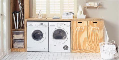 tafel wasmachine ikea washok opknappen met inbouw kast voor wasmachine en droger