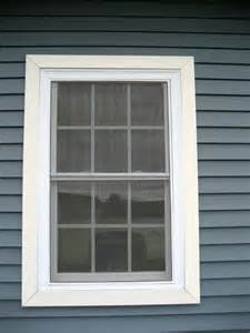 Window siding trim windows this window has its screens installed