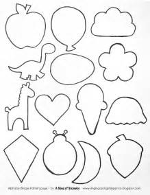 felt shape templates printable cut out shapes az coloring pages
