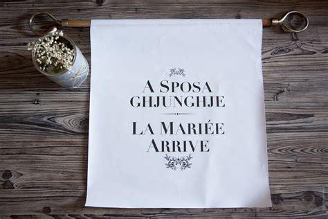 """Noces de Soie Bannière """"A sposa"""""""