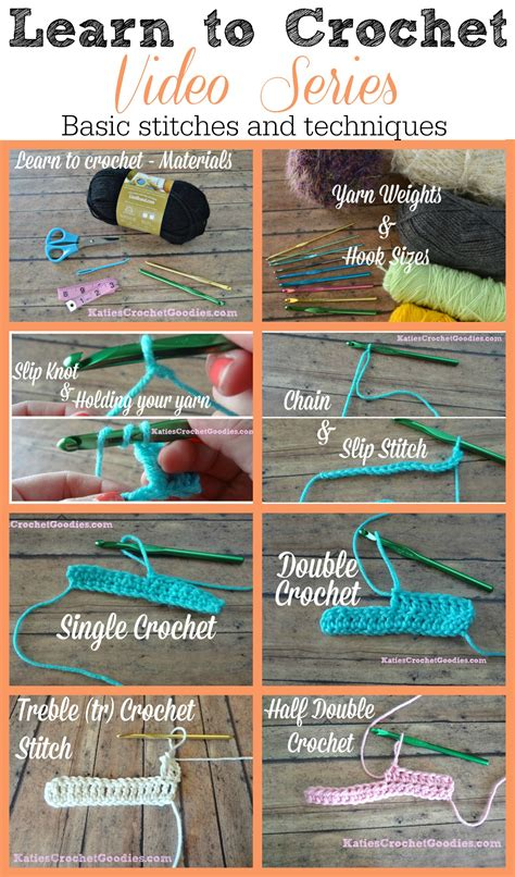learn to crochet video series katie s crochet goodies