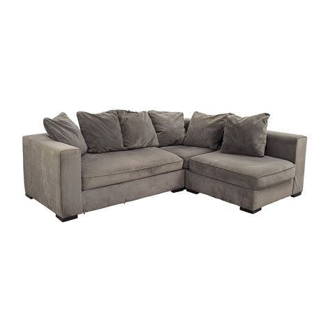 west elm sectional sofa 53 off west elm west elm modular gray sectional sofas