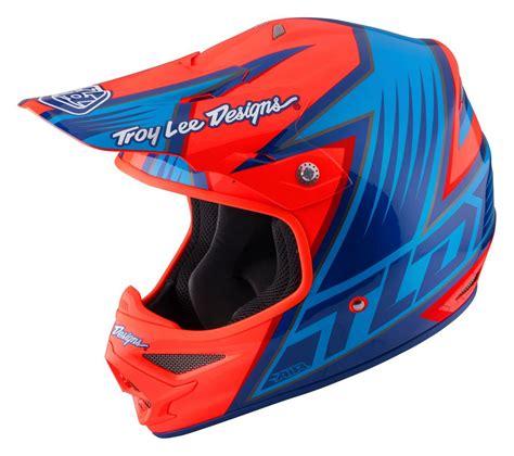 tld motocross helmets troy lee designs 2017 new mx tld air vengeance orange blue