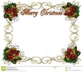 de grensframe van kerstmis 3d tekst royalty vrije stock