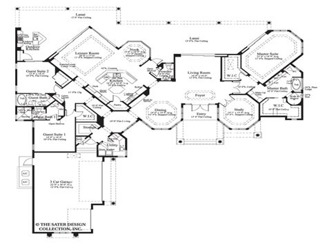 The House Plan Collection by House Plan The Cardiff Sater Design Collection Luxury