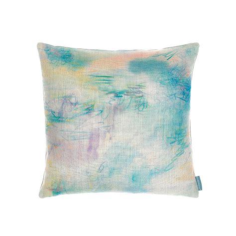 buy bluebellgray impressionist teal cushion amara