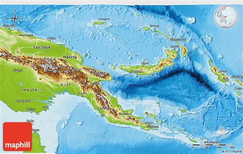physical map of papua new guinea physical 3d map of papua new guinea