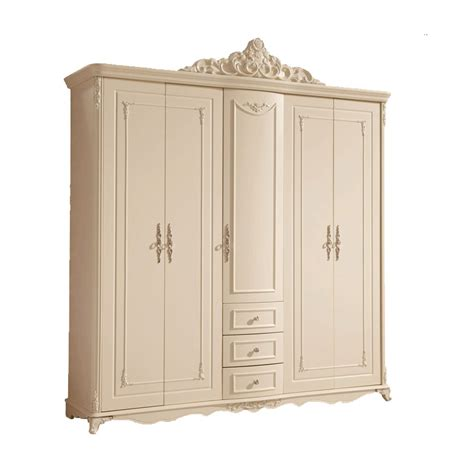 Bedroom Set With Wardrobe Closet - style wardrobe closet wardrobe ivory carving five