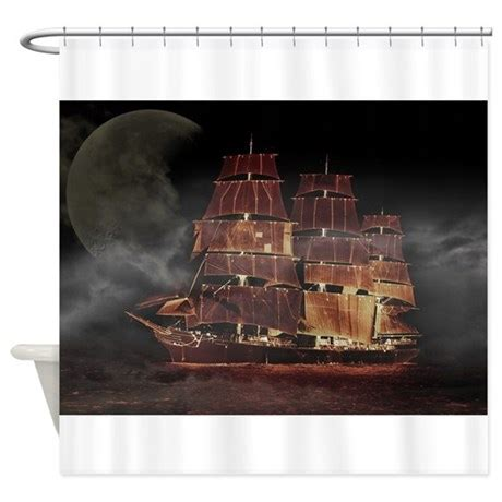 pirate ship shower curtain pirate ship shower curtain by stircrazy