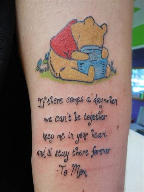 winnie the pooh quote tattoos winnie the pooh and quote tattoomagz