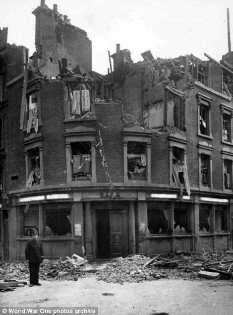 Photographs show damaged Britain during WW1 air raids and