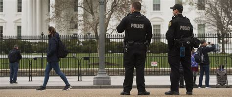 White House Security by Person Detained After Hopping Bike Rack Barrier Along