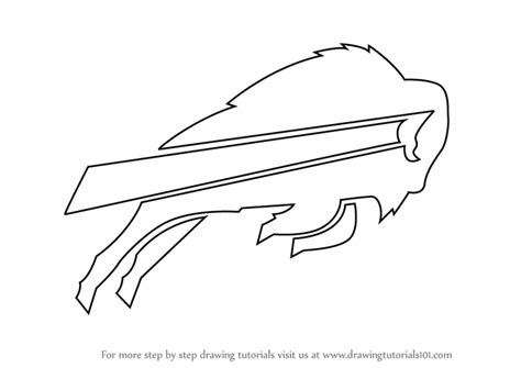 learn how to draw buffalo bills logo nfl step by step
