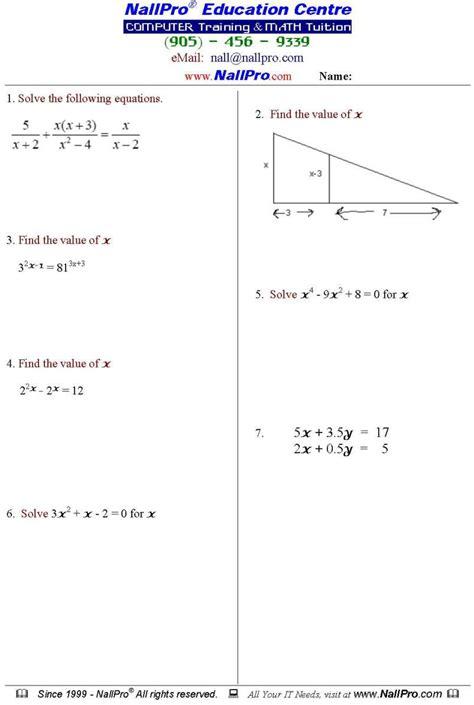 12th Grade Math Worksheets grade 12 mathematics