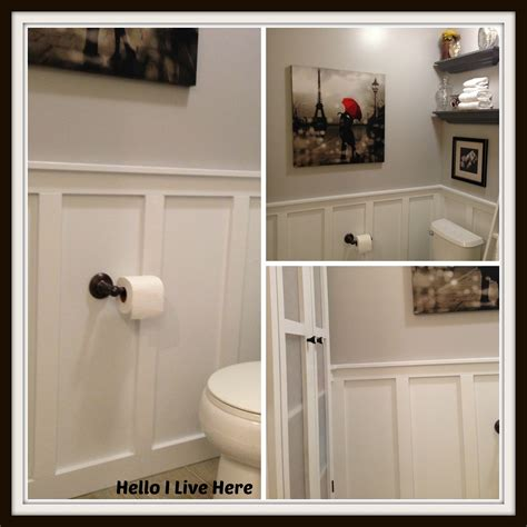 board and batten bathroom diy tales board and batten wainscoting by hello i live