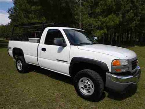 how petrol cars work 2006 gmc sierra 2500hd engine control purchase used 2006 gmc sierra 2500 hd 4x4 regular cab pickup 6 0l gas n mississippi no reserve