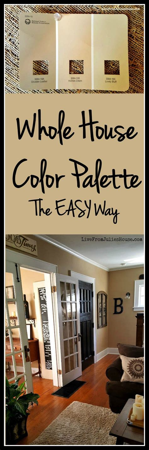whole house color palette the easy way live from julie