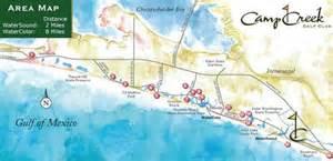 watersound florida map st joe waterfront communities watersound