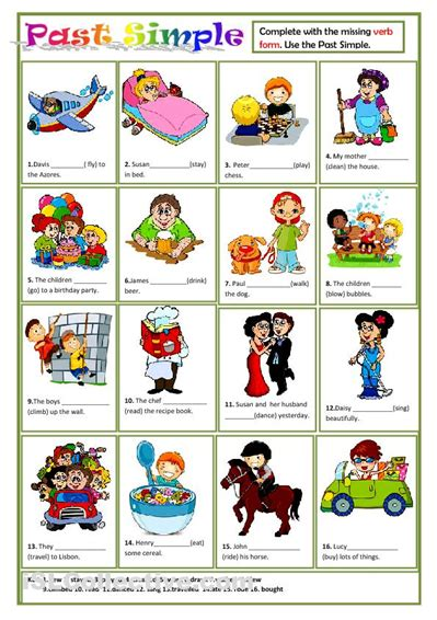 english teaching worksheets simple past past simple worksheet good for esl kids past simple