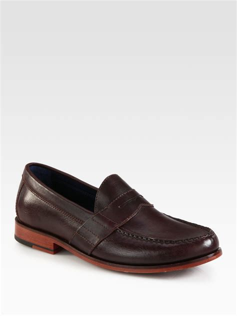 cole haan brown loafer cole haan air loafer in brown for lyst