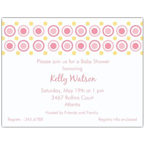 Red Baby Shower Invitations by Dots Pink Baby Shower Invitations Paperstyle