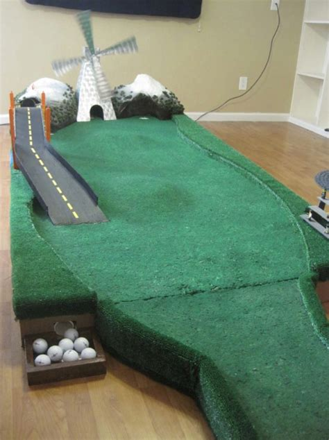 how to make a golf green in your backyard diy geek golf variable putting green wooden 9 hole