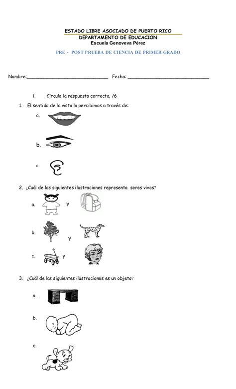 ciencia de 10 grado ejercicios prueba diagn 243 stica de ciencia de primer grado 2010 2011