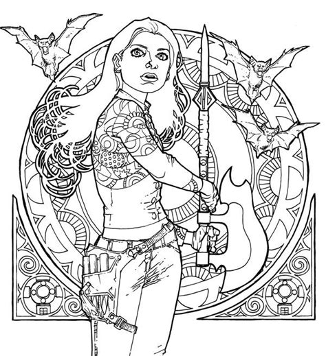 Buffy The Vire Slayer Coloring Pages Buffy Coloring Book 03 Daily Dead by Buffy The Vire Slayer Coloring Pages