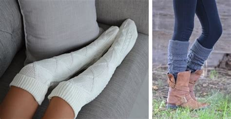 diy thigh high socks from cozy thigh highs