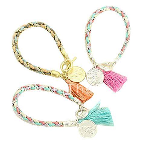 Matching Woven Bracelet eruner 174 color matching woolen yarn coin pendant woven