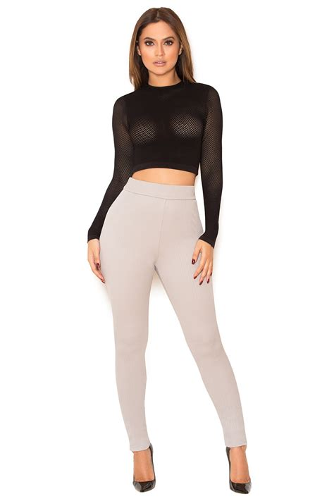New House Gifts by Clothing Leggings Derriere Grey Rib Knit Leggings